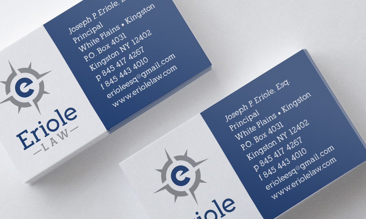 Eriole Law Cards, designed by Query Creative in the Hudson Valley