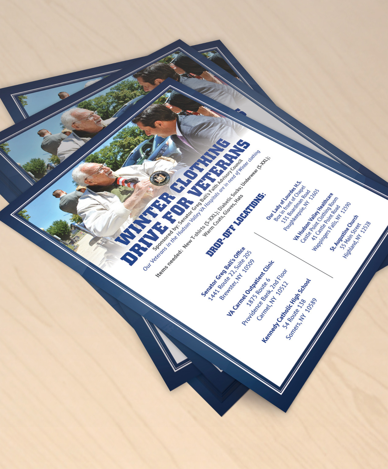 Greg Ball for NY Flyer, designed by Query Creative in the Hudson Valley