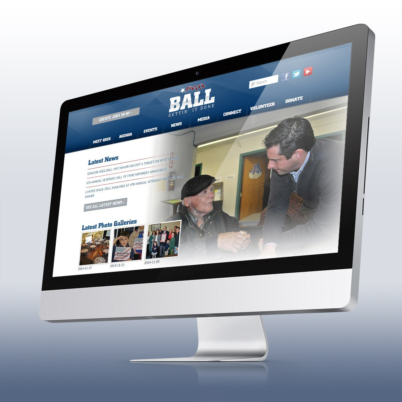 Greg Ball for NY Website, designed by Query Creative in the Hudson Valley