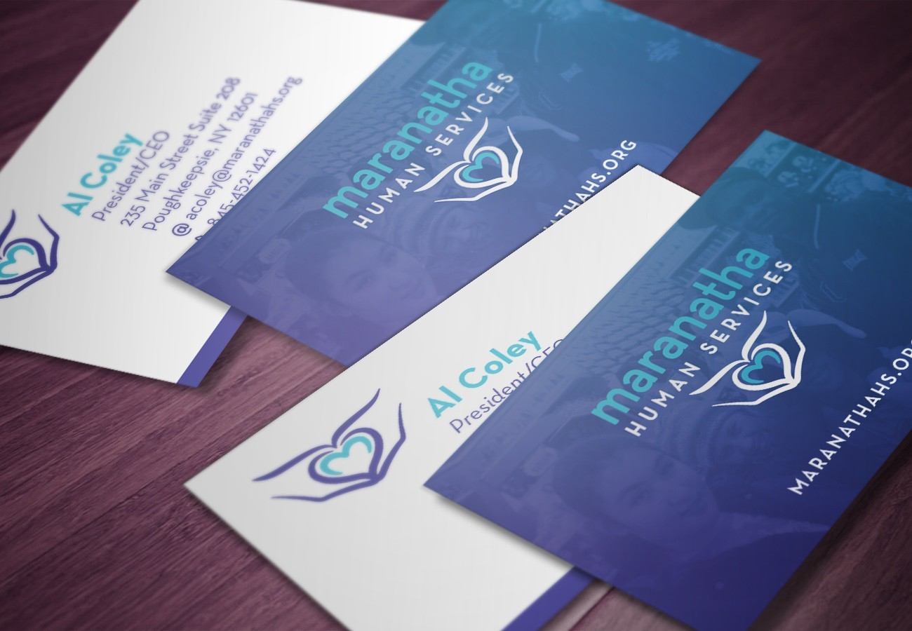 Maranatha Human Services Cards, designed by Query Creative in the Hudson Valley