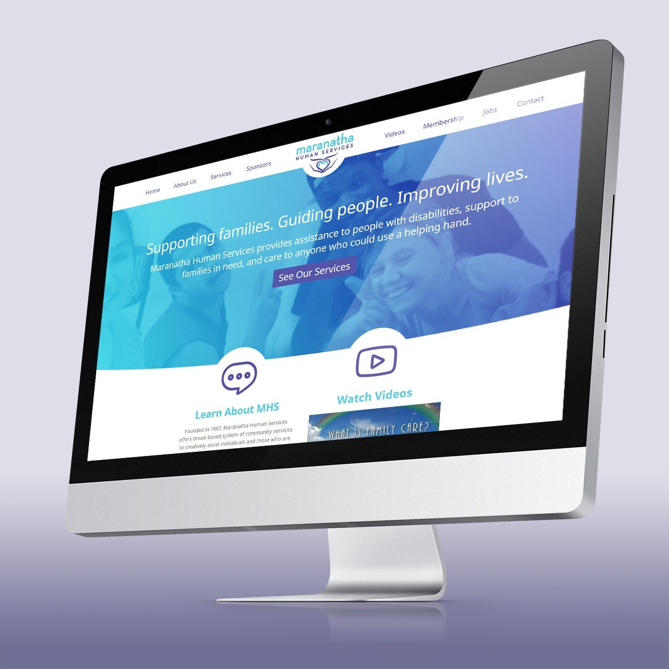 Maranatha Human Services Website, designed by Query Creative in the Hudson Valley