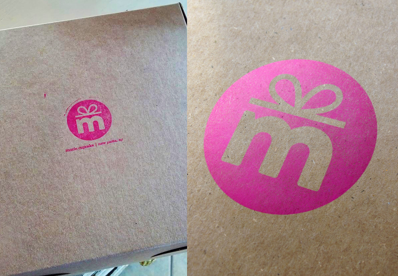 Moxie Cupcake Box, designed by Query Creative in the Hudson Valley