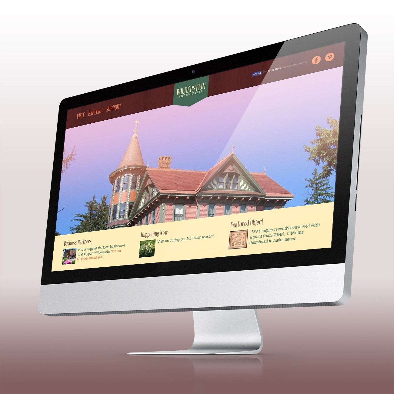 Wilderstein Historic Site Website, designed by Query Creative in the Hudson Valley