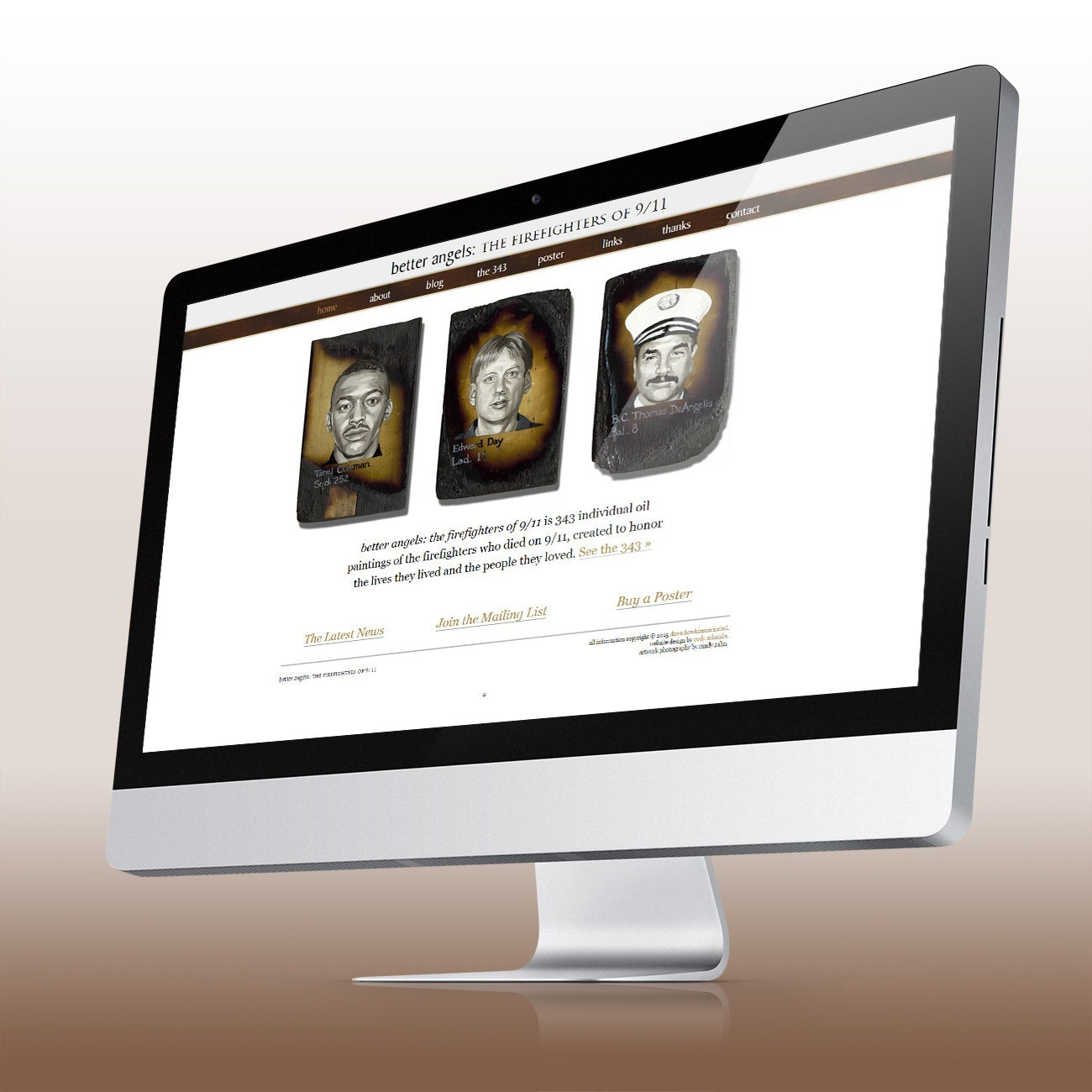 Better Angels Website, designed by Query Creative in the Hudson Valley