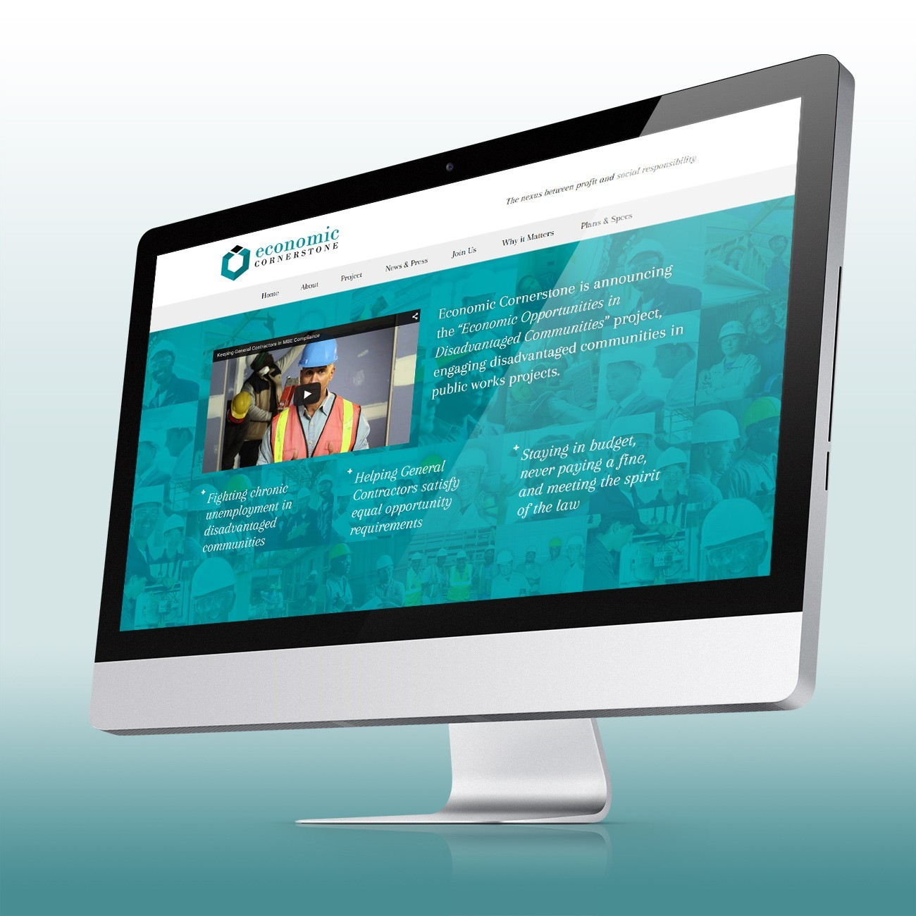 Economic Cornerstone Website, designed by Query Creative in the Hudson Valley