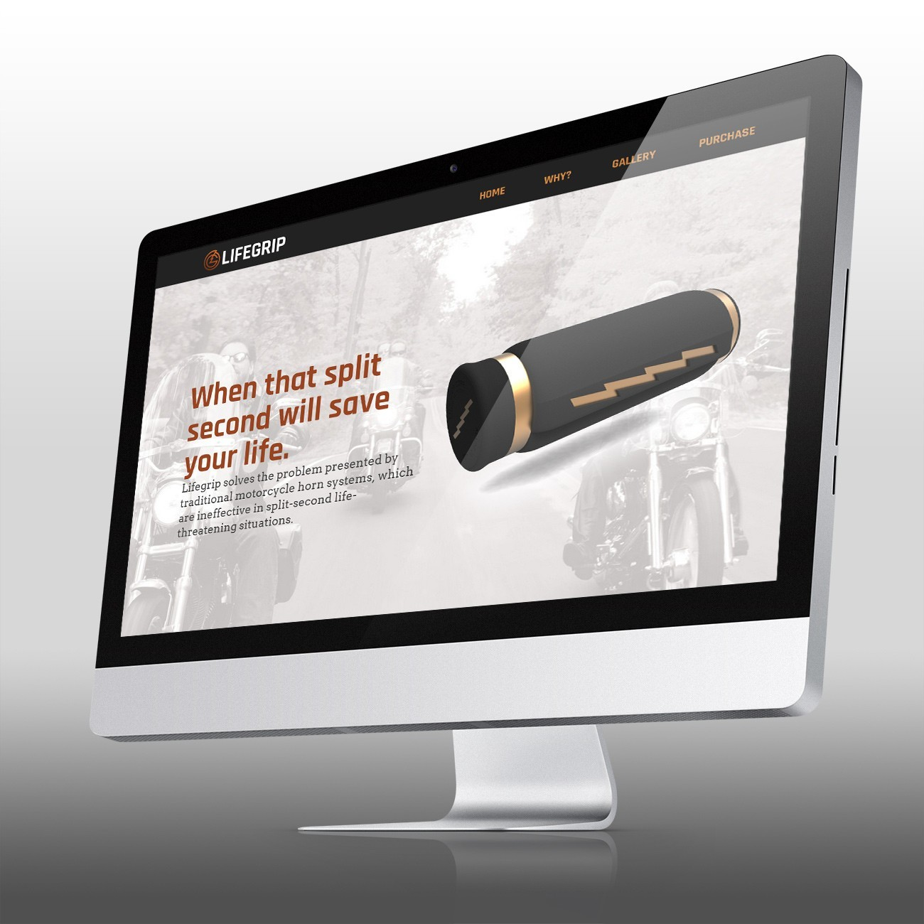 Lifegrip Website, designed by Query Creative in the Hudson Valley