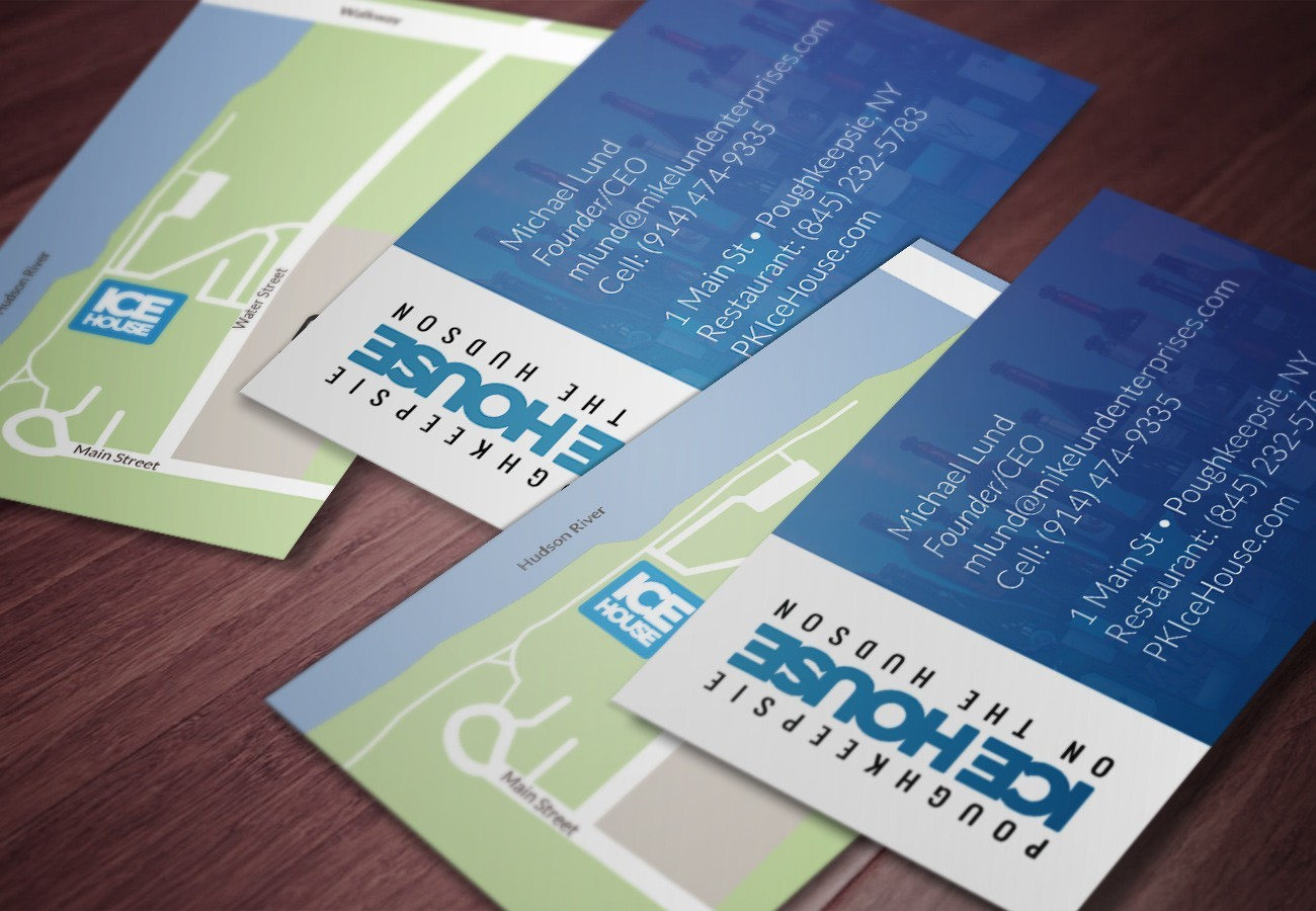 Poughkeepsie Ice House Cards, designed by Query Creative in the Hudson Valley