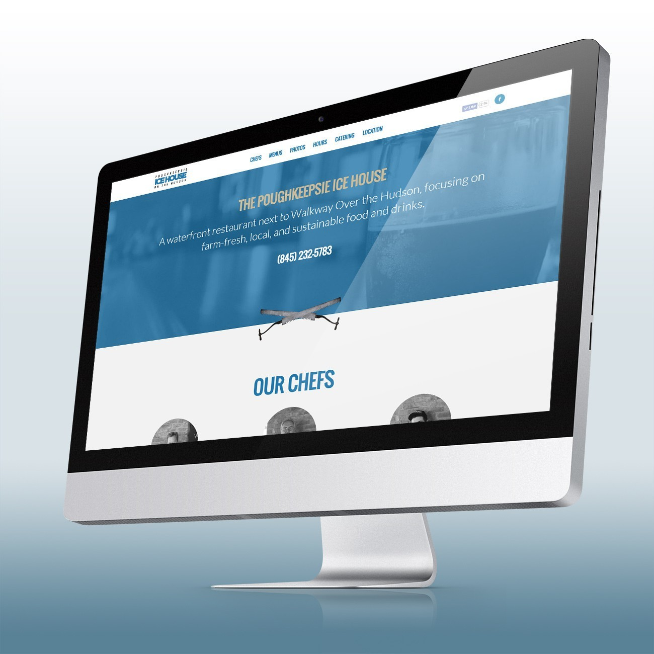 Poughkeepsie Ice House Website, designed by Query Creative in the Hudson Valley