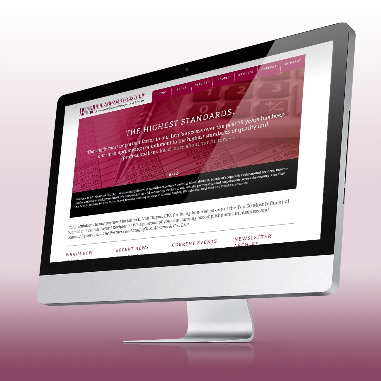 RS Abrams Website, designed by Query Creative in the Hudson Valley